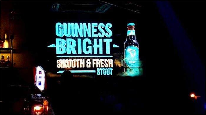 Guinness Bright and Visual Retale create 3D projections across pubs in Malaysia